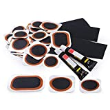 Maifede Bike Inner Tube Patch Kits, Bicycle Tire Repair Kit, with Portable Storage Box, for Cycling, Motorcycle, BMX, ATVs and More Inflatable Rubber.