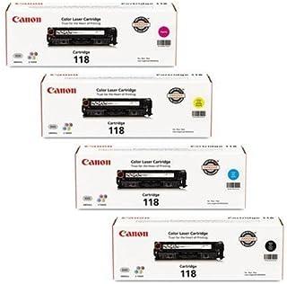 Canon 2660B015AA Original 118 Black, Cyan, Magenta, Yellow for The Color imageCLASS MF8350Cdn