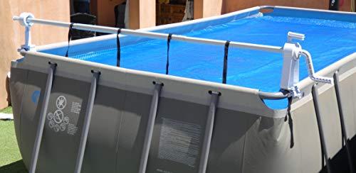 Enrouleur Télescopique Piscine Hors Sol - Couverture Solaire - Bâche à bulles été