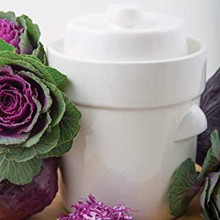 Gärtopf Sauerkrauttopf 3 Liter  Beschwerungssteine weiß