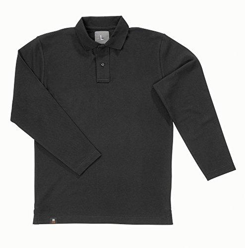 FHB polo-shirt met lange mouwen Dennis, maat 3 XL, zwart, 91585-20-3XL