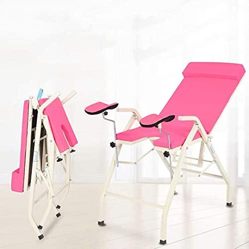 SFSGH Cama de Belleza - Cama de Examen ginecológica Plegable Tratamiento médico portátil Cama de Maternidad Lavado ginecológico Cama de Examen Tratamiento de Salud Femenina