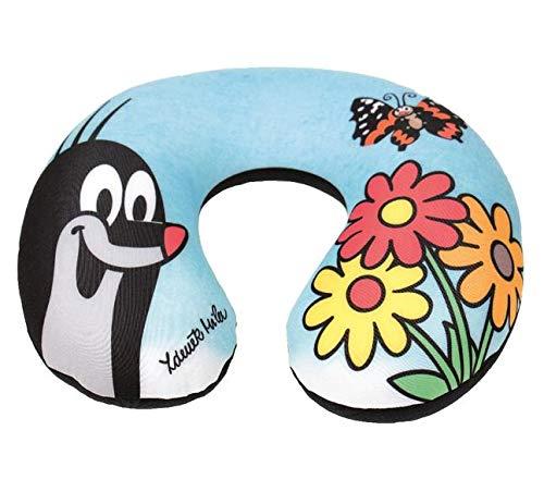 Der kleine Maulwurf Nackenrolle / Nackenstütze / Kissen: Blumen-Motiv und Schmetterling, handmade