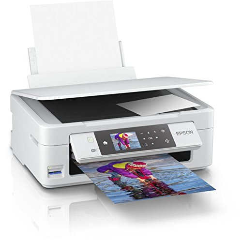 Epson Expression Home XP-455 3-in-1 Tintenstrahl-Multifunktionsgerät Drucker (Scanner, Kopierer, WiFi, 6,8 cm Display, Einzelpatronen, 4 Farben, DIN A4, Amazon Dash Replenishment-fähig) weiß