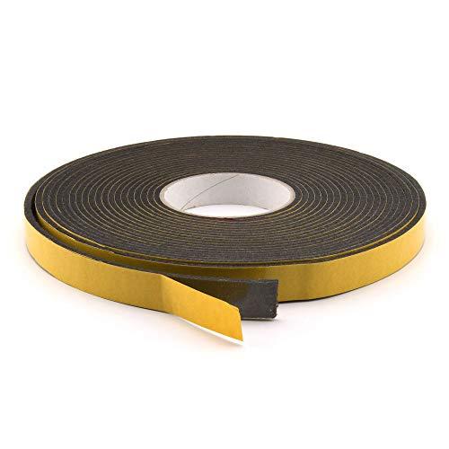 GleitGut Filzband selbstklebend schwarz Filzklebeband Meterware 10 m auf der Rolle Breite: 15 mm Stärke: 3 mm Filzstreifen
