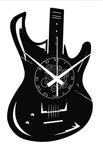 Vinyl Wanduhr Vintage Handgemache Schallplatten-Design Dekor Gitarren Bass Rock Metal Punk Musik