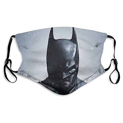 ZVEZVI Batman Arkham Origins Bufanda Ajustable con 2 filtros,máscara Reutilizable y Lavable,para Uso en Exteriores,a Prueba de Polvo