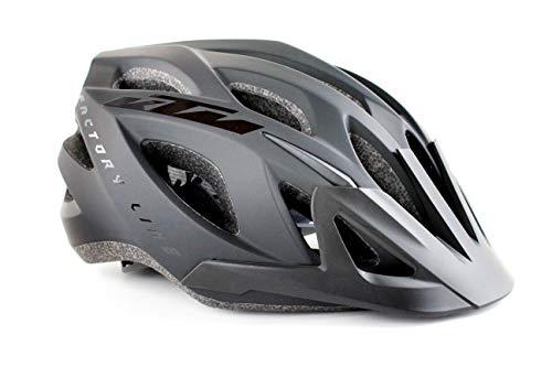 KTM, casco da bicicletta Factory Line 2021, nero lucido, nero opaco, 54-58 cm