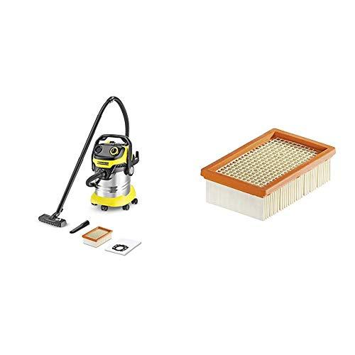 Kärcher Mehrzwecksauger WD 5 Premium, 1.348-231.0 + Kärcher Flachfaltenfilter für WD 4-6 und MV 4-6