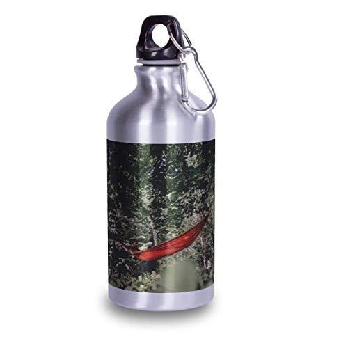 Kopierladen Trinkflasche aus Aluminium mit eigenem Foto oder Text selbst gestalten - Silberne Trinkflasche mit Text oder Motiv Bedrucken Lassen