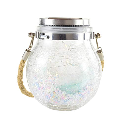 Qiekenao Zonne Kroonluchter, Outdoor Creatief Glas Crack Fles Tafellamp Tuin Kroonluchter Tuin Decoratie