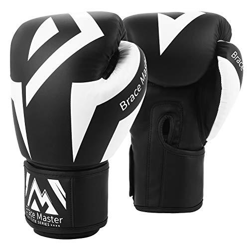 Brace Master Boxhandschuhe Serie DG 2.0 Design für präzises und schnelles Stanzen von Sparringhandschuhen für Männer und Frauen, Anzug für MMA Boxing Sparring & Training (Box Black 14OZ)
