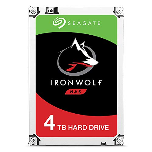 Seagate Technologys ST4000VN008 Iron Wolf NAS HDD 3.5 4TB SATA3 5900rpm 64 MB, argento