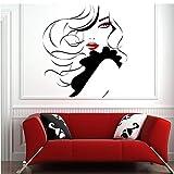 Navidad Pin UpWomen Modern Hair Salon etiqueta de la pared Decal Transfer 63 * 57cm...