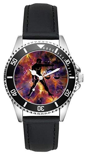 Geschenk für Waage Horoskop Sternzeichen Uhr L-6173