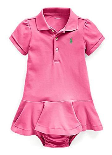 Ralph Lauren - Vestido de polo de algodón piqué - rosa - 24 meses