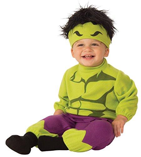 Rubie's unisex baby Baby's Marvel Hulk Romper Costume, Multi, Infant US