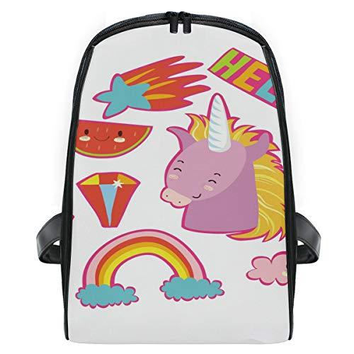 FANTAZIO Hello Unicorn Mochila de viaje delgada y duradera para niños