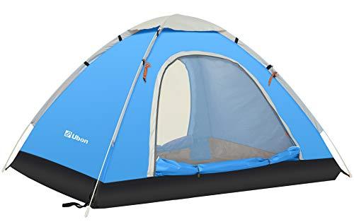 Ubon 2-3 Person Pop up Tent Instant Tent Water Repellent Sun Shelter, Sky Blue