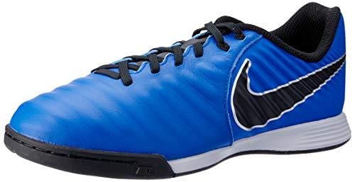 Nike Performance Tiempo LegendX VII Academy Indoor Fußballschuh Kinder blau/schwarz, 12C US - 29.5 EU - 11.5 UK