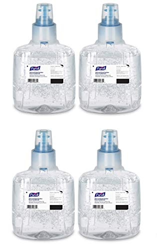 PURELL Advanced Green Certified Hand Sanitizer Gel, 1200 mL Sanitizer Refill for PURELL LTX Touch-Free Dispenser (Pack of 2)- 1903-02 (pack of 4 1200 mL)