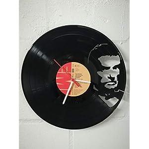 Wanduhr aus Vinyl Schallplattenuhr mit Falco/Jeanny Motiv upcycling design Uhr Wand-deko vintage-Uhr Wand-Dekoration retro-Uhr