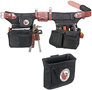Occidental Leather 9515 Adjust-to-Fit Oxy Light Framer Tool Belt Set Bundle w/ 9501 Clip-On Pouch (2 Pieces)