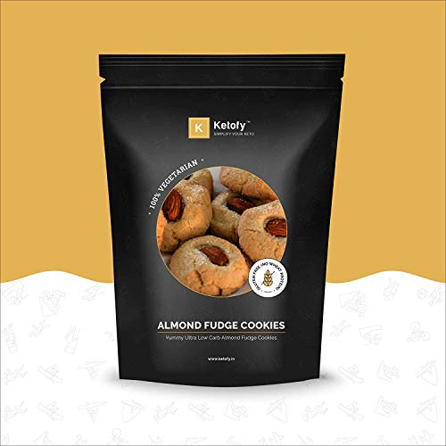 Ketofy - Almond Fudge Keto Cookies (200g) | Ultra Low Carb Almond Fudge Keto Cookies