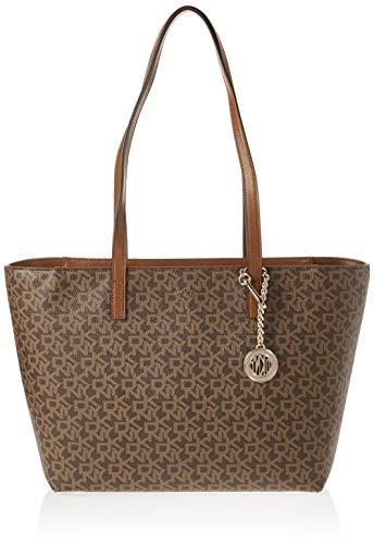 DKNY Brown Bryant Signature Print Tote Bag