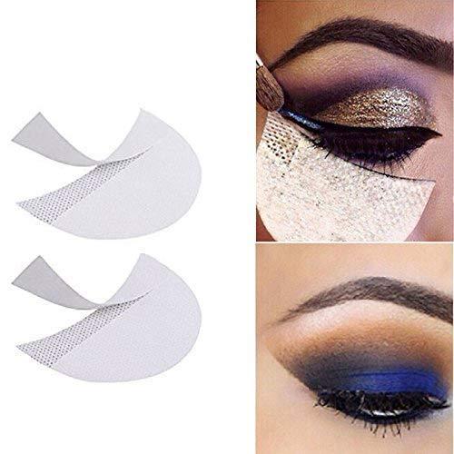 LKE 100pcs Eyeshadow Stencils makeup tape Professional Lint Free Under Eye Eyeshadow Gel Pad Patches eyeliner tape for Eyelash Extensions/Lip Makeup supplies