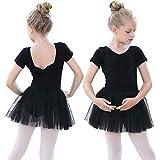 tanzdunsje Vestido de Ballet Maillot de Danza para niñas Traje de Ballet de Leotardo gimnástico de...