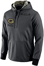 Dunbrooke Apparel Men's Green Bay Packers Salute to Service Sideline Therma Pullover Hoodie