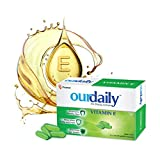 Ourdaily Vitamin E-400mg-Softgel Capsules-nourishes skin, improves hair and eye health, anti-oxidant properties provide