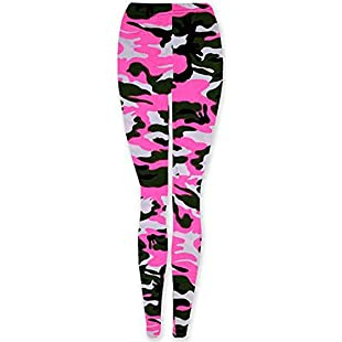 Customer reviews EASY BUYY New Ladies Womens Camouflage CAMO Army NEON Yellow and NEON Pink Print Trousers Pants Leggings (UK 8/10 S/M, NEON Pink Camouflage):Schedulingsoftware