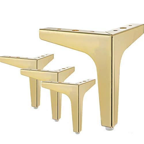 Patas de metal de 17,5 cm de La Vane 4 unidades de patas de mesa triangulares de metal con diamante para armarios, sofás, estanterías, otomanos