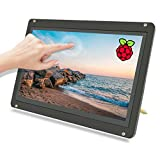 Upgraded! 7inch Touchscreen Monitor with Case, 100 Levels Brightness Adjustable, TeNizo IPS 1024x600 HD Screen Capacitive Touch Display for Raspberry Pi 4/3/2, Plug-n-Play for Windows Mac, Drive Free