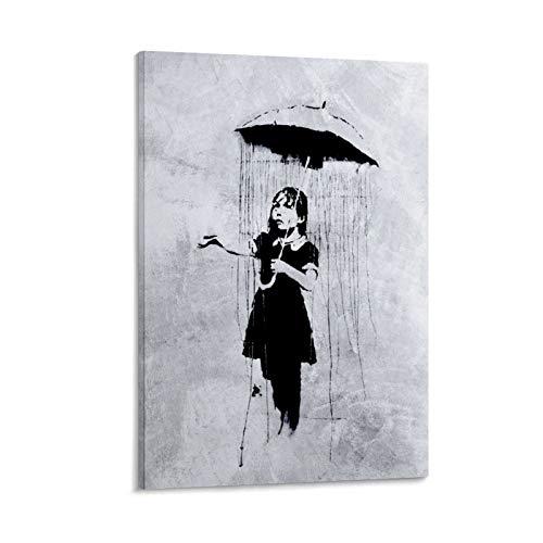 one1love Banksy Street Graffiti Kunst Regenschirm Wandkunst Dekor Poster Banksy Revolution-Poster Gemälde Wanddekoration für Schlafzimmer, Wohnzimmer, Fitnessstudio, Büro, 40 x 60 cm