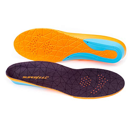 Superfeet FLEX, Comfort Insoles for Athletic Shoe Cushion and Support, Unisex, Flame, Large/E: 10.5-12 Wmns/9.5-11 Mens