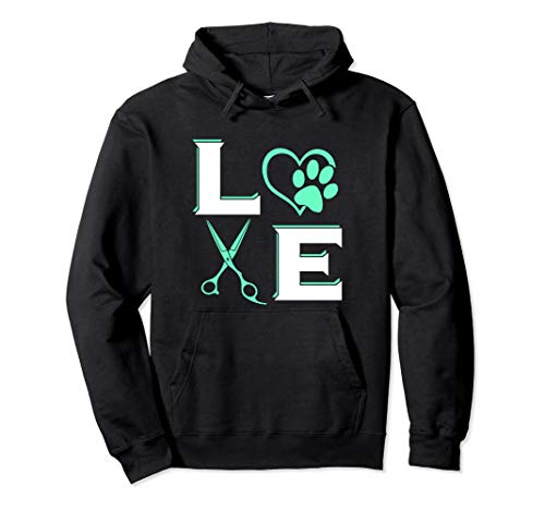 DOG Pet Grooming Stylist Cute Groomer Gift Veterinarian Tech Pullover Hoodie