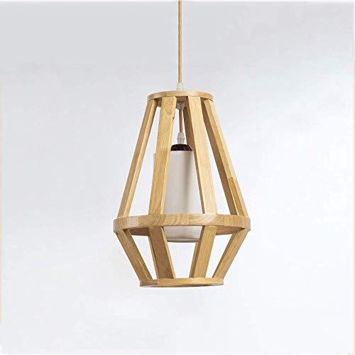 Minimalistische persoonlijkheid van hout hanglamp Nordic Creative geometrie hanglamp gemaakt van creatief hout restaurant plafond slaapkamer verlichting