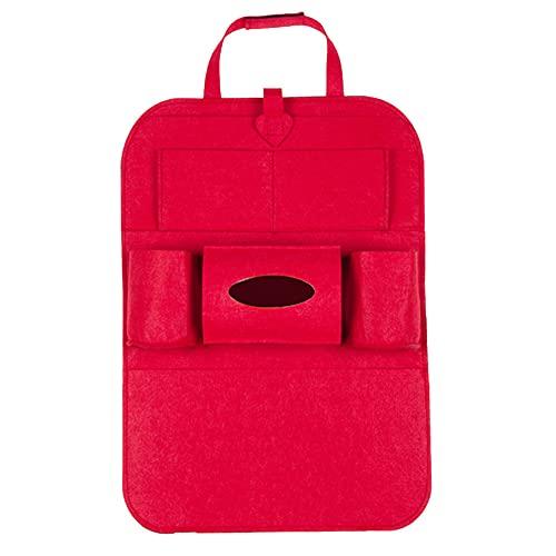CARMAE Organizador de asiento trasero de coche, protector de asiento trasero de coche, con caja de pañuelos, múltiples bolsillos de almacenamiento, universal, multifuncional, para niños