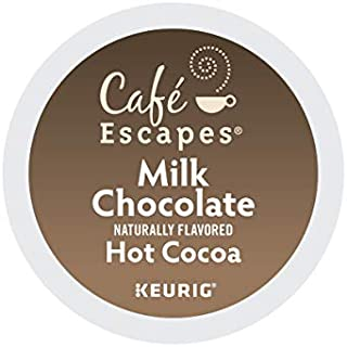 Cafe Escapes, Milk Chocolate Hot Cocoa, Single-Serve Keurig K-Cup Pods, 96 Count (4 Boxes of 24 Pods)
