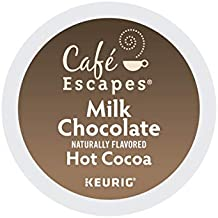 Cafe Escapes, Milk Chocolate Hot Cocoa, Single-Serve Keurig K-Cup Pods, 72 Count (3 Boxes of 24 Pods)