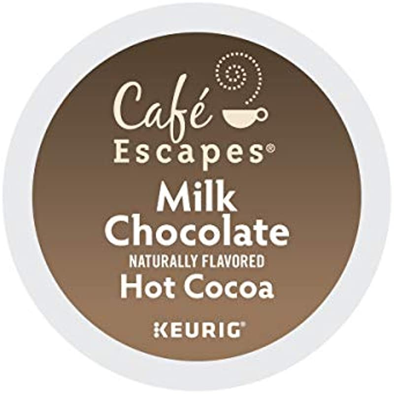 Cafe Escapes Milk Chocolate Hot Cocoa Single Serve Keurig K Cup Pods 96 Count 4 Boxes Of 24 Pods