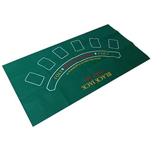 Woorea 90x120cm Doppelseitige Spiel Tischdecke Vlies Stoff Craps und Blackjack Spiel Matte Poker Tisch Tuch