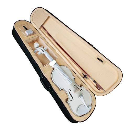 Almencla Weiß 4/4 Größen Akustische Violine Mit Fall Bogen Kolophonium Für Musikfreunde