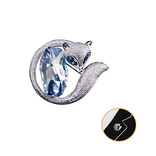 Women's Fox Crystal Broche Pin, Fashion Creative Dier Broches Speldje, Trui Jurk Coat Shirt Sieraden Accessoires, Stunning Voor Haar