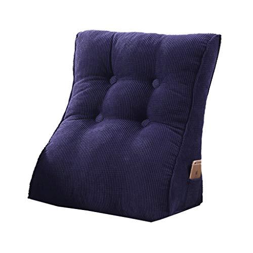 Lumbar Almohada Soporte del lecho almohadilla de la cuña de protección de la cintura de noche grande del respaldo Triángulo cojines del sofá cama Pack Office suave almohada lumbar lavable ZSMFCD