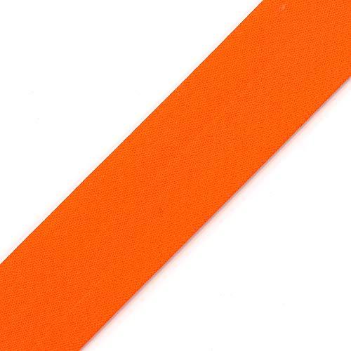40mm (1-1/2') Elastic Stretch Band Ribbon Trim by 2-Yards, TR-11870 (Neon Orange)
