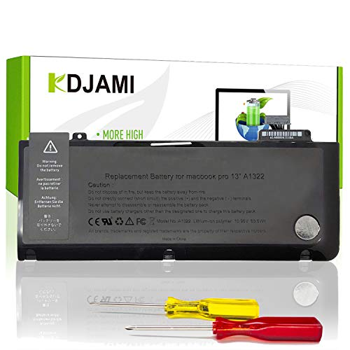 "KDJAMI A1278 A1322 Batería para Apple MacBook Pro 13"" (2009 2010 2011 2012 Ver) MD101LL/A MD313LL/A MC700 MC700LL/A MD102LL/A MC374LL/A MB990LL/A MD314LL/A [63.5Wh/10.95v]"